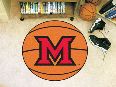 "MiamiOhio Basketball Mat 27"" diameter"