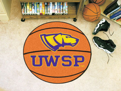"Wisconsin-Stevens Point Basketball Mat 27"" diameter"