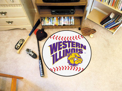 "Western Illinois Baseball Mat 27"" diameter"