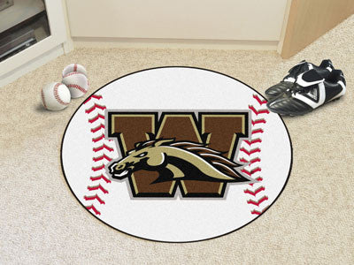 "Western Michigan Baseball Mat 27"" diameter"