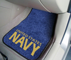 "Navy 2-piece Carpeted Car Mats 17""x27"""