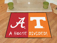 "Alabama  /  Tenneessee House Divided Rug 33.75""x42.5"""