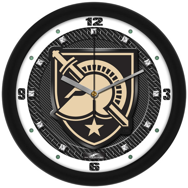 NCAA Army Black Knights-Carbon Fiber Textured Wall Clock