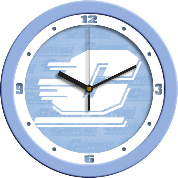 NCAA Central Michigan Chippewas-Baby Blue Wall Clock