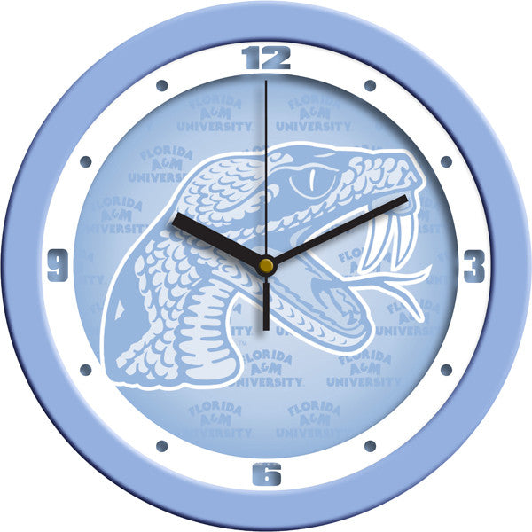 NCAA Florida A&M Rattlers-Baby Blue Wall Clock