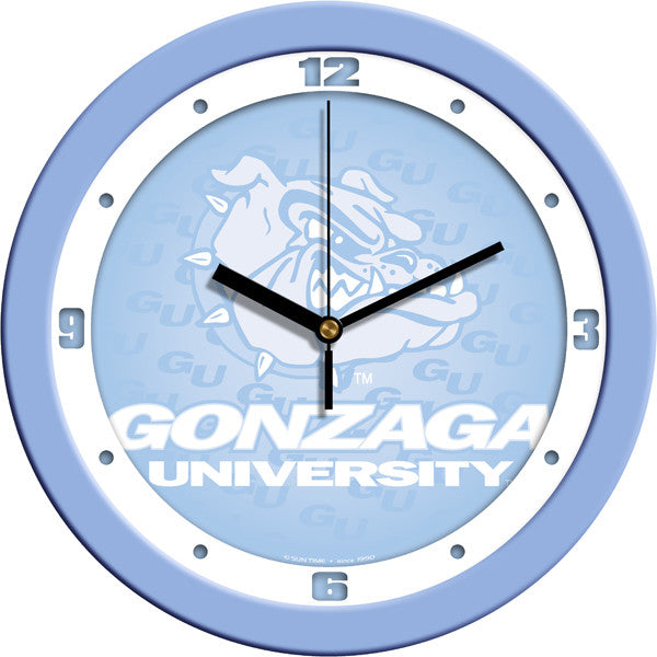 NCAA Gonzaga Bulldogs-Baby Blue Wall Clock