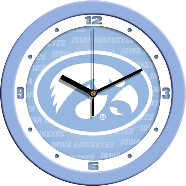 NCAA Iowa Hawkeyes-Baby Blue Wall Clock
