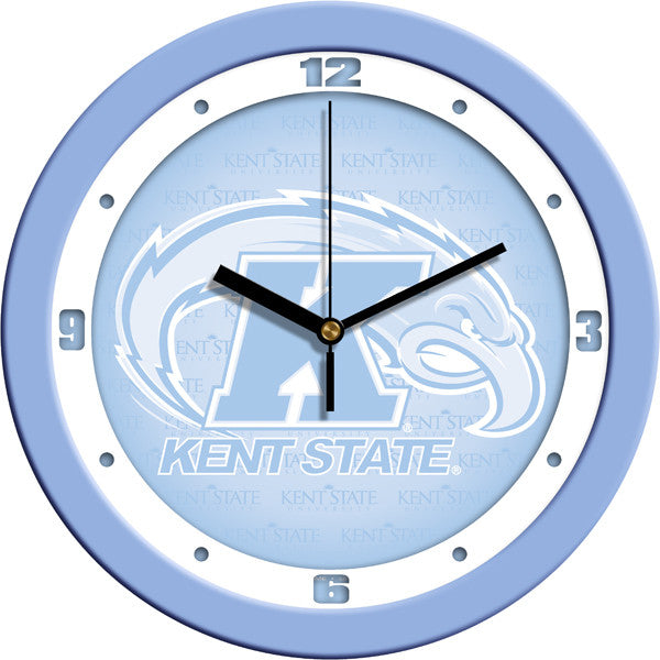 NCAA Kent State Golden Flashes-Baby Blue Wall Clock