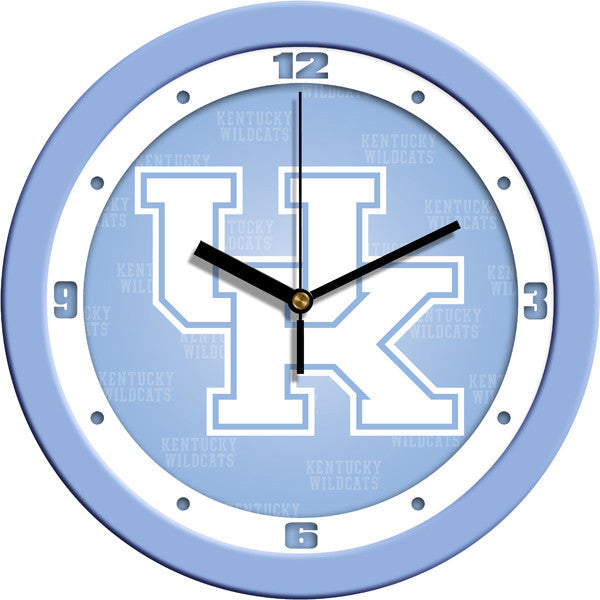 NCAA Kentucky Wildcats-Baby Blue Wall Clock