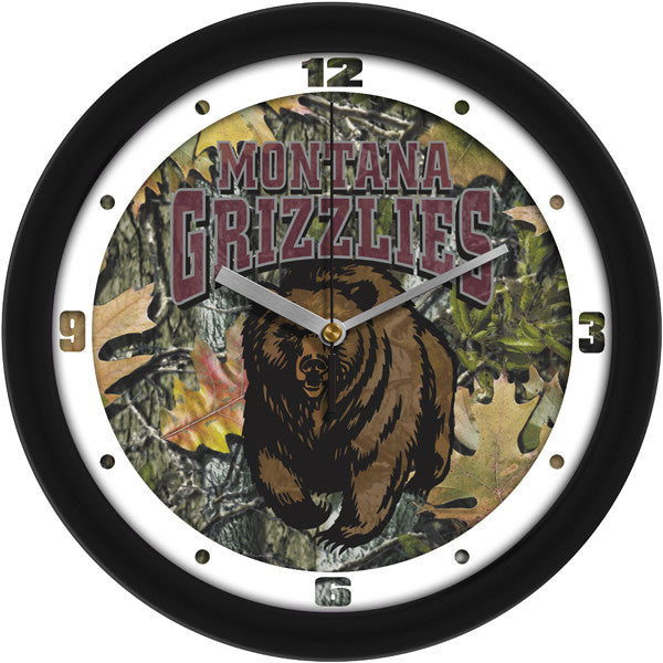 NCAA Montana Grizzlies-Camo Wall Clock