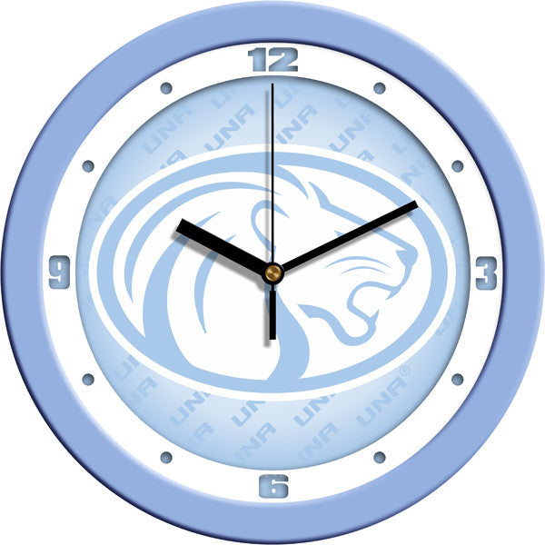 NCAA North Alabama Lions-Baby Blue Wall Clock