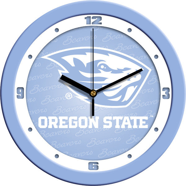 NCAA Oregon State Beavers-Baby Blue Wall Clock