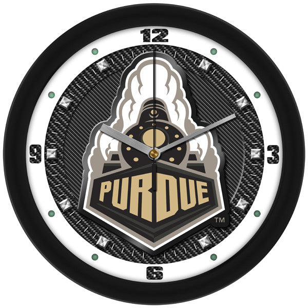 NCAA Purdue Boilermakers-Carbon Fiber Textured Wall Clock