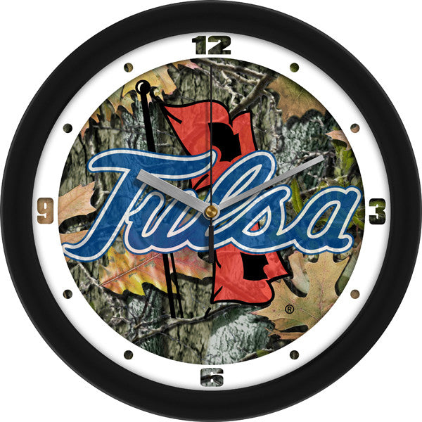 NCAA Tulsa Golden Hurricane-Camo Wall Clock