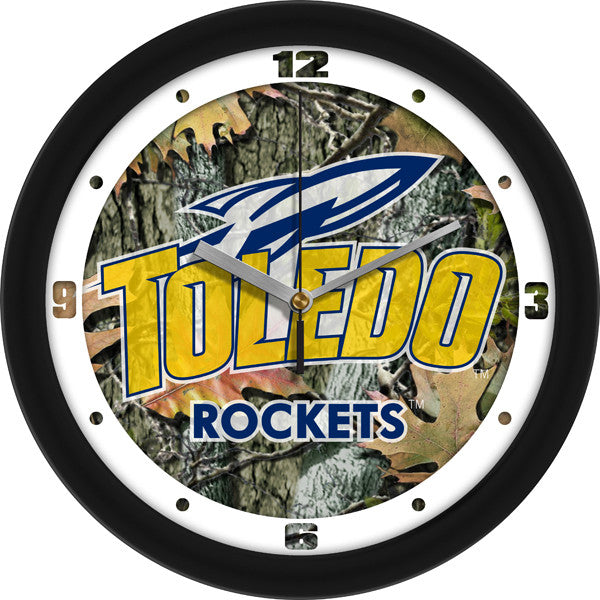 NCAA Toledo Rockets-Camo Wall Clock