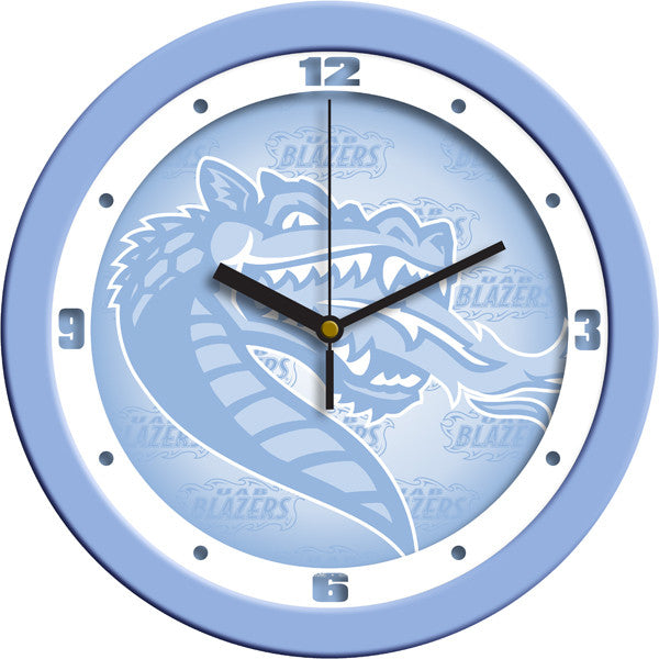 NCAA Alabama - UAB Blazers-Baby Blue Wall Clock