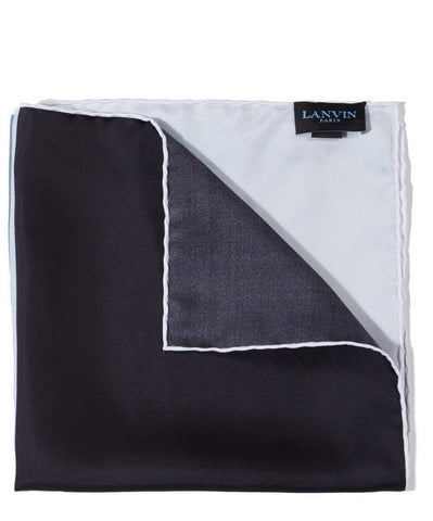 Man's Hankerchief Black Silk