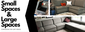 Small spaces and large spaces. configureable sofa Configureable sofabed