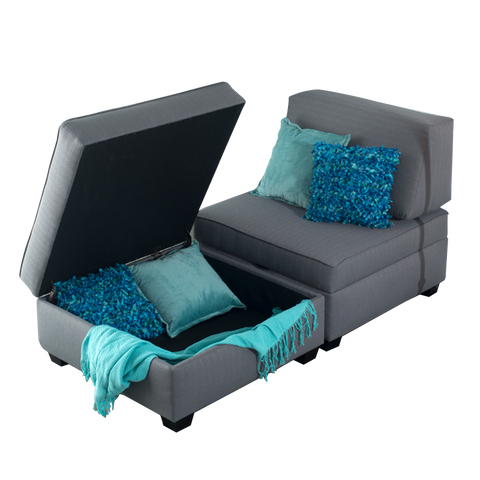 Duobeds Chaise Lounge with Storage