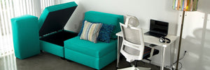 Storage Sofa Sleeper for small apartments and dorms