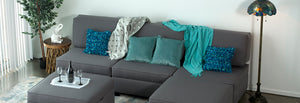 Storage Modualr Sectional sofa and ottoman