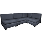 Duobeds Corner Modular Sectional Couch ottomans and pillows can be arranged as a king-size bed, twin beds, sofas, chairs, or chaise lounges for modular living room and bedroom furniture in a single purchase.