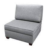 The Duobeds Storage Chair Ottoman  combines a storage ottoman with a lumbar-friendly sofa back pillow for a comfortable living room or bedroom chair.