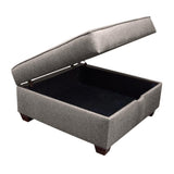 "Duobeds Modular Storage Ottoman 30""x30"" has convenient storage space inside, and combines with more ottomans and duobed sofa back pillows to create sectionals, sofas, beds, futons, love seats, and chairs."