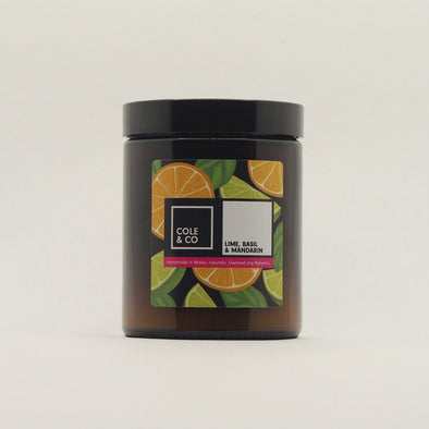Lime, Basil & Mandarin Candle in a Jar