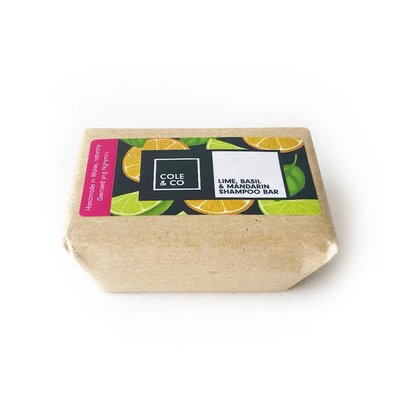 Lime, Basil & Mandarin Large Shampoo Bar