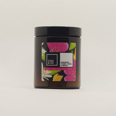 Floral Candle in a Jar