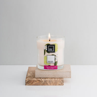 3 Lime Flower & Bergamot Candles