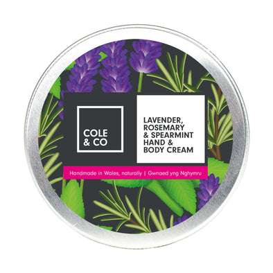 6 Lavender, Rosemary & Spearmint Hand & Body Creams