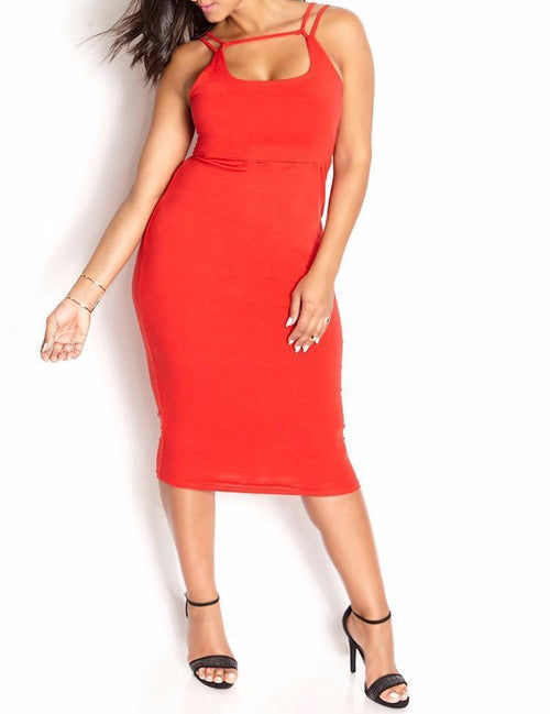 Wholesale Caged Midi Dress