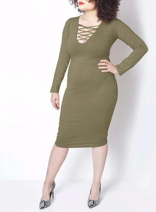 Wholesale Bodycon Midi Dress