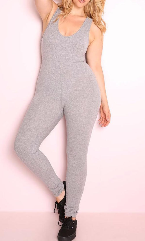 Wholesale Essential Tank Jumpsuit - Gray