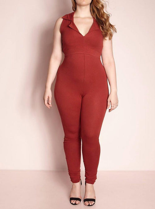 Wholesale  Collared Jumpsuit