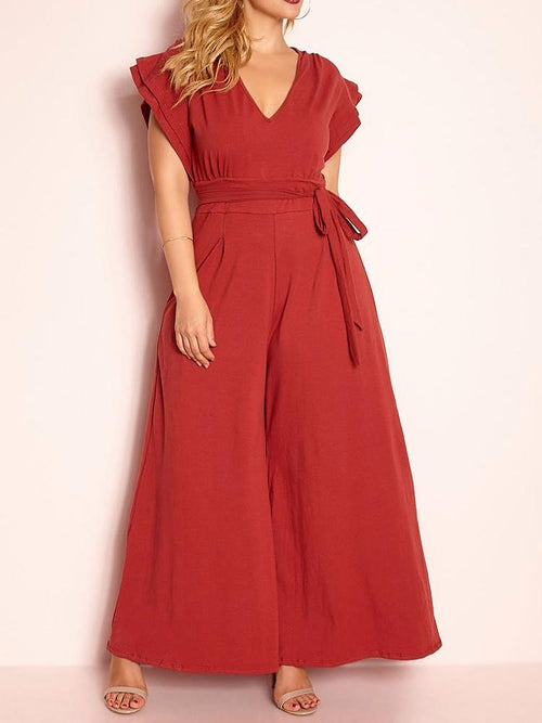 Wholesale Ruffled Sleeve Jumpsuit