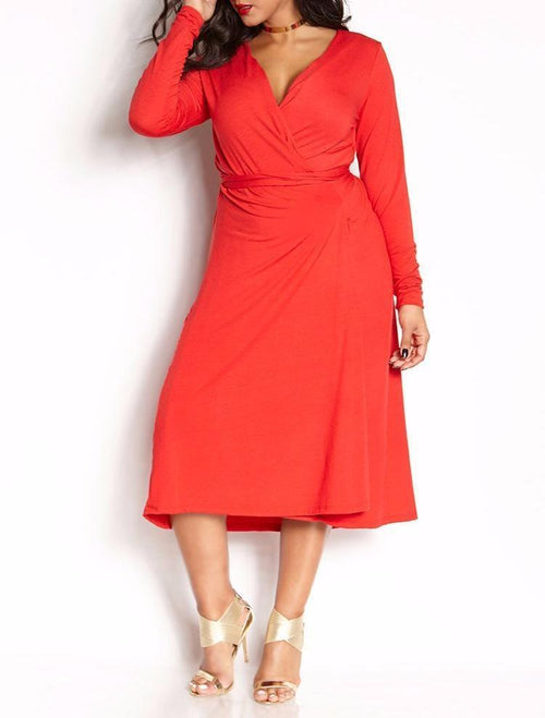 Wholesale  Wrap Midi Dress