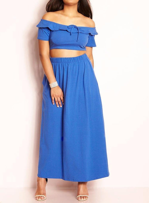 Wholesale  Over The Shoulder Two Piece Set