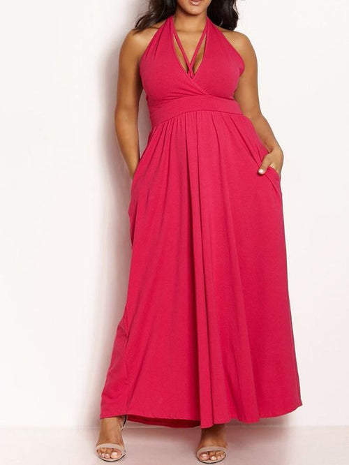 Wholesale Halter Caged Maxi Dress