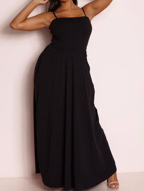 Wholesale Skater Maxi Dress With Pockets
