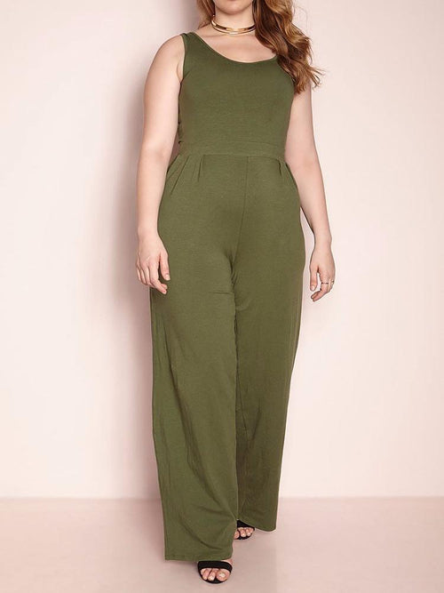 Wholesale Tank Style Pleated Jumpsuit