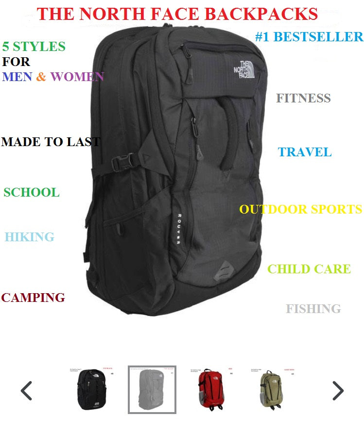 67f897edf THE NORTH FACE BACKPACKS MEN & WOMEN