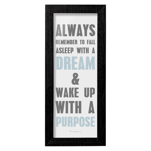 "WOOD FRAMED ""ALWAYS REMEMBER"" WALL DECOR"