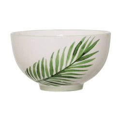 CERAMIC JADE BOWL WITH FERN