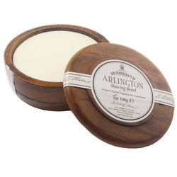 D.R. HARRIS ARLINGTON SHAVING SOAP IN WOODEN POT