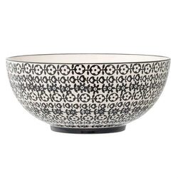 CERAMIC SERVING BOWL WITH FLOWERS