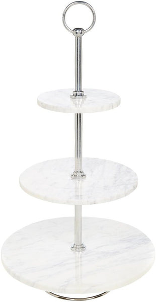 BELLE DE PROVENCE MARBLE 3 TIER CAKE STAND