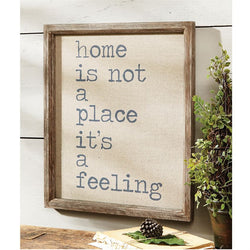 "MUD PIE ""HOME IS"" WALL DECOR"